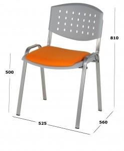 libera 4 patas con asiento tapizado baja